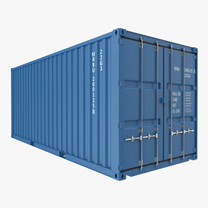 20 ft iso container 3d max