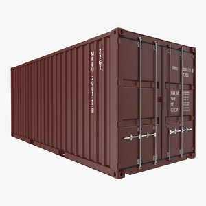 20 ft iso container 3d model