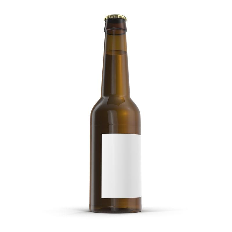 beer bottle modeled obj