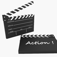 clapperboard products 3d model
