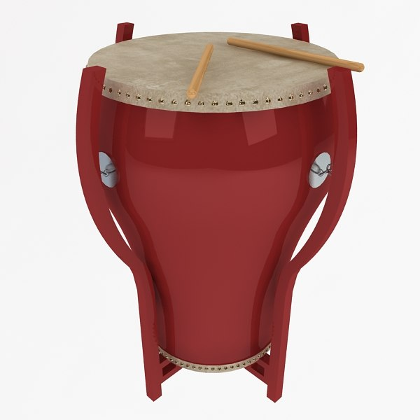3d model chinese drum