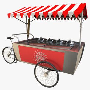 3d model ice cream cart