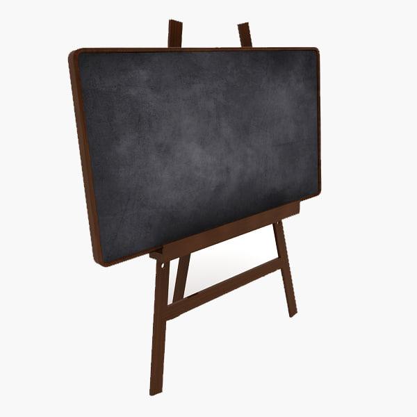 board chalk 3d model