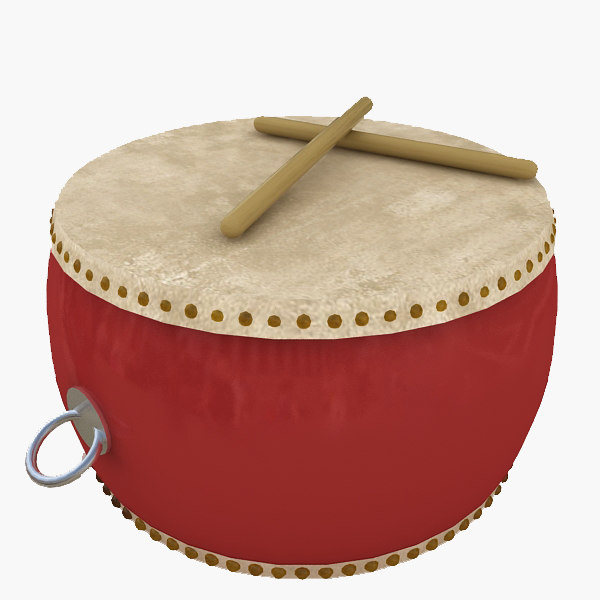 chinese drum 3d model