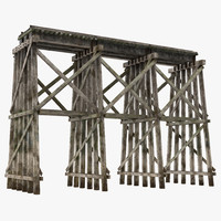 trestle realistic 3d 3ds