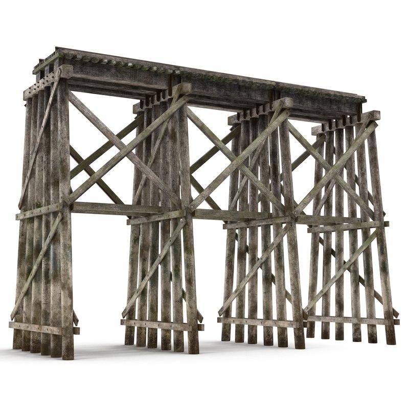 trestle realistic 3d 3ds