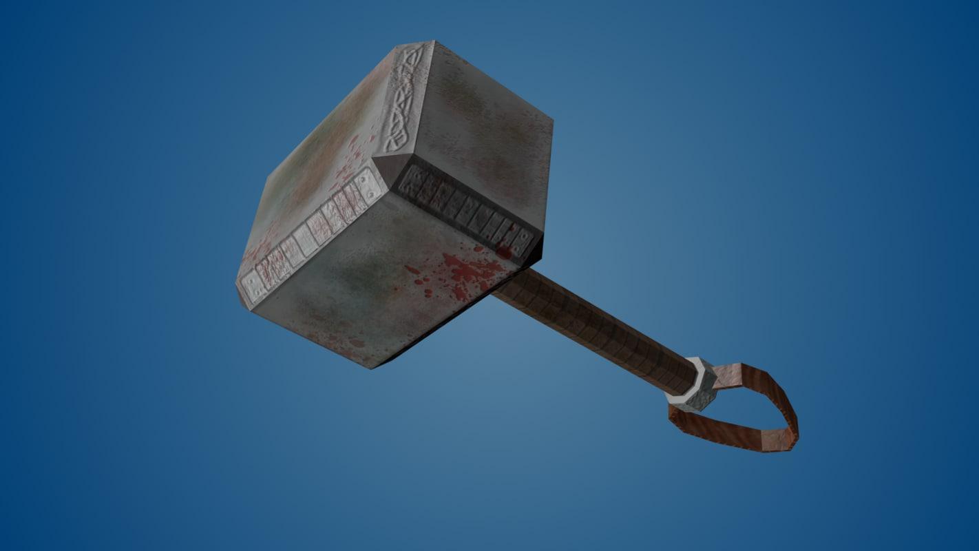 3d model battle hammer