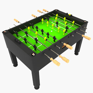3d foosball table
