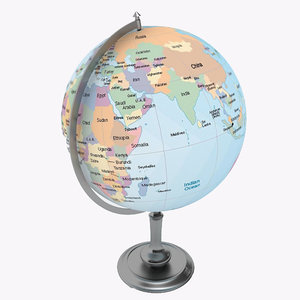 3d 3ds globe antique
