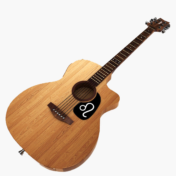 3d model classical guitar