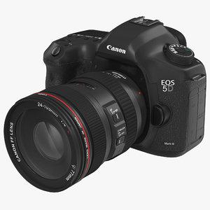 digital camera canon eos 3d model