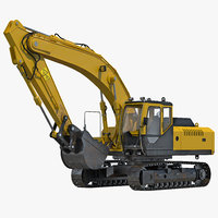 3dsmax tracked excavator
