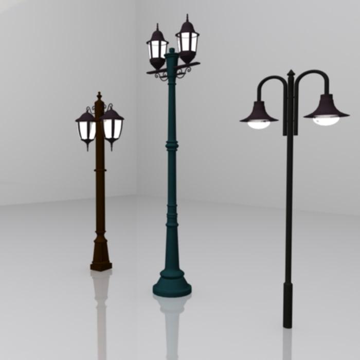 3ds max street light 3