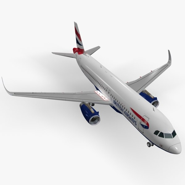 3ds max sharkleted a320neo british airways