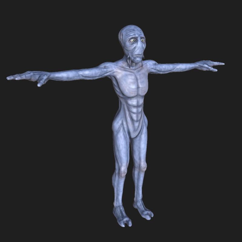 alien roswell 3d obj
