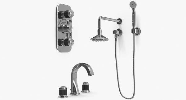 3d model set jaipur shower head