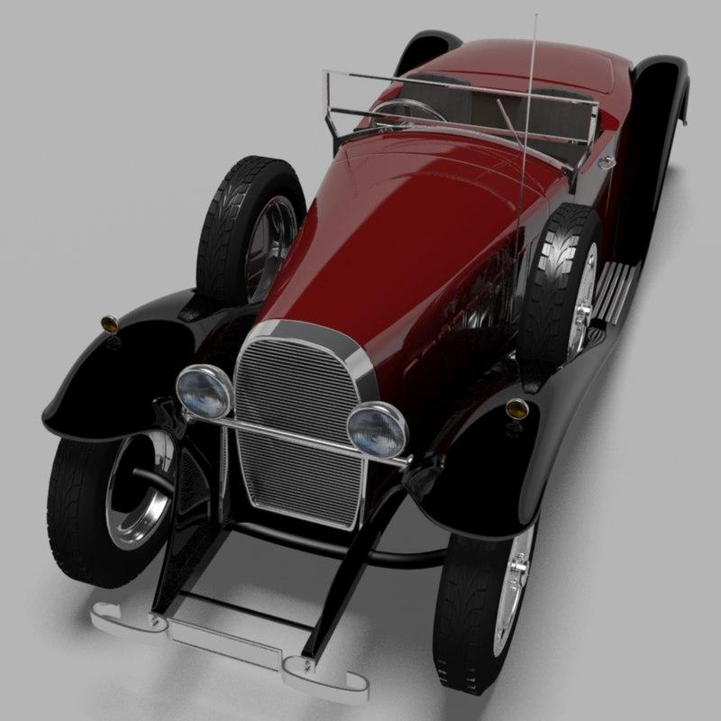 1931 bugatti type 41 3d max