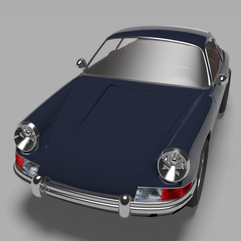 3d porsche 911 coupe 1964 model