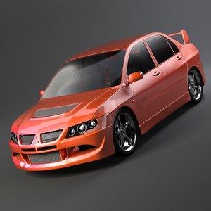 3d mitsubishi car