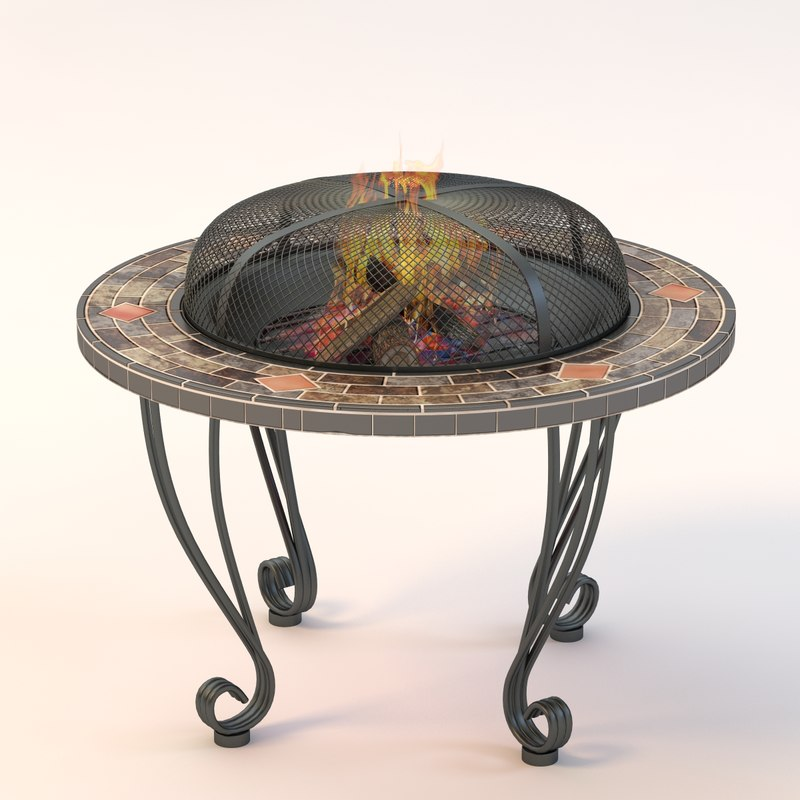 firepit table door 3d model
