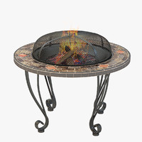 firepit table door 3d model