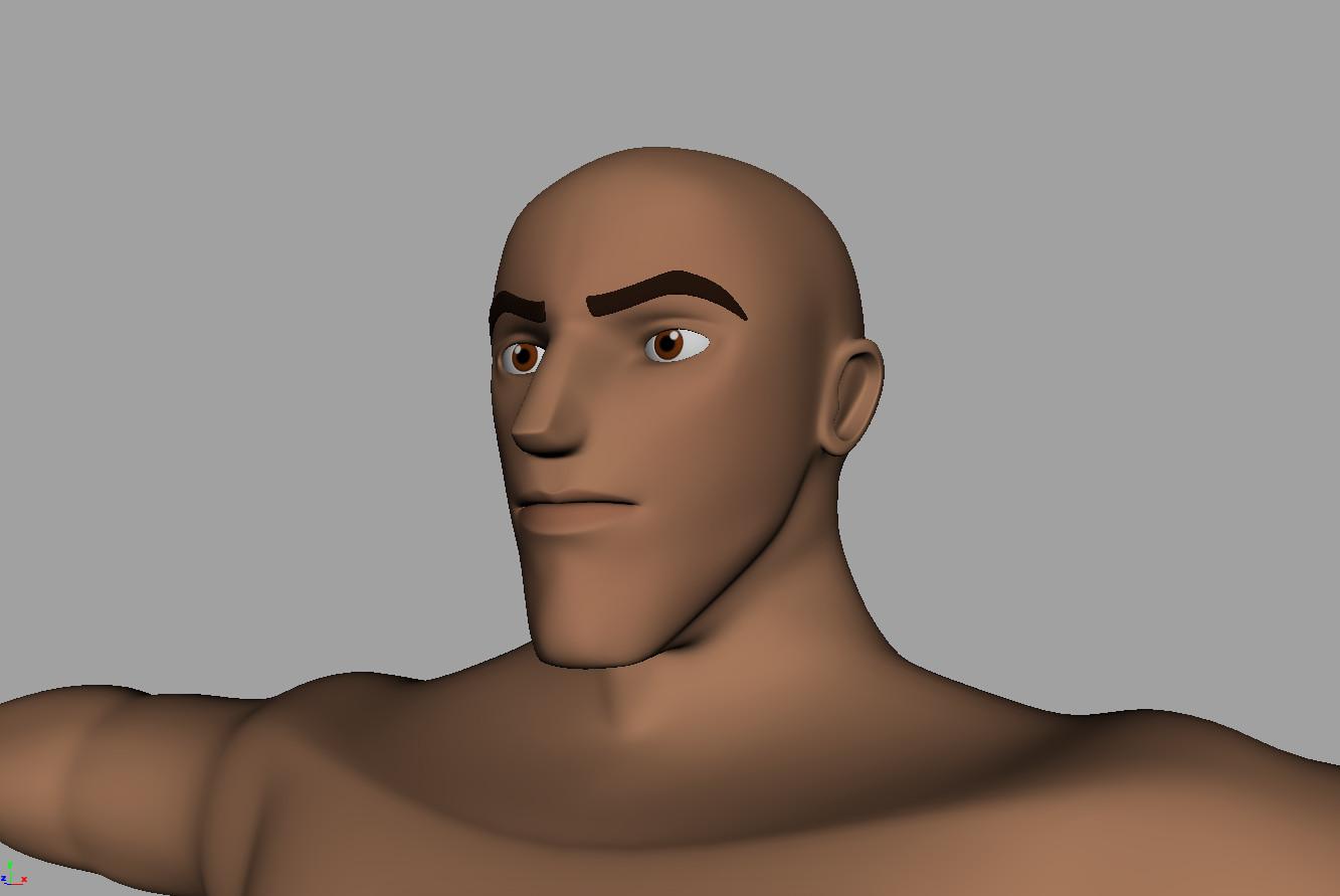 human base mesh 3d model