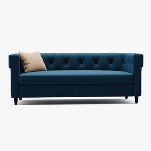 3d chester tufted upholstered sofa