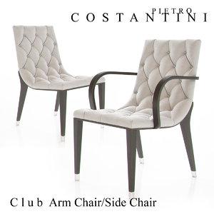 3d constantini pietro club armchair