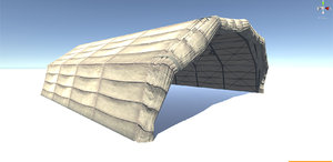 3d model movable military hangar