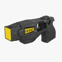 taser gun 3d max