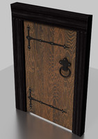 Tudor door medieval wood old weathered
