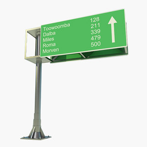 3d model highway signs