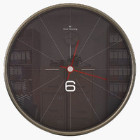 black wall clock 3ds
