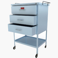 3d max medical supply cart