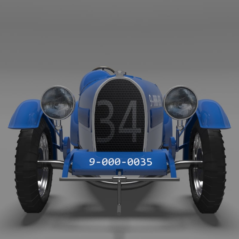 bugatti type 37 grand 3d model