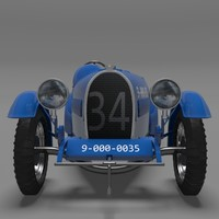 bugatti type 37 grand 3d model