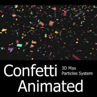 - particles confetti 3d model