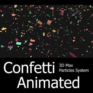 - particles confetti max