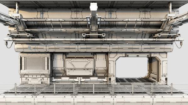 3d designer sci-fi model