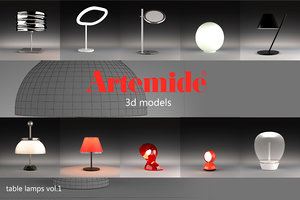 light artemide 3d obj