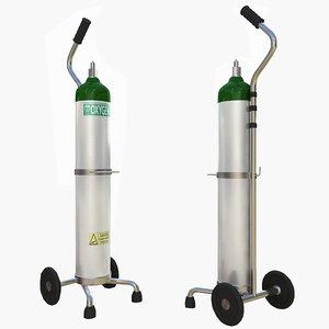 3d oxygen supply cart model
