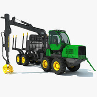forwarder forestry vehicle 3d 3ds
