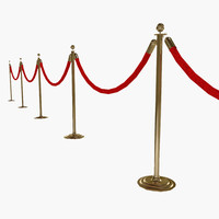3d stanchion velvet rope