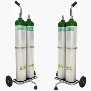 oxygen supply cart 3d max