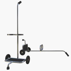 3d model oxygen cart