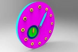 funny kid clock 3d 3ds