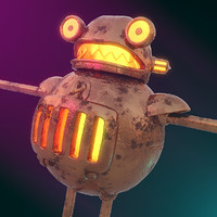 robot steam punk 3d model