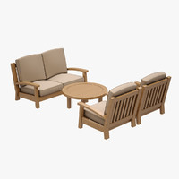 3d sofa set hancerli model