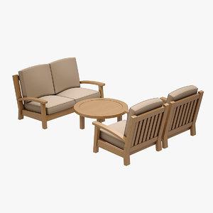 3d sofa set hancerli model