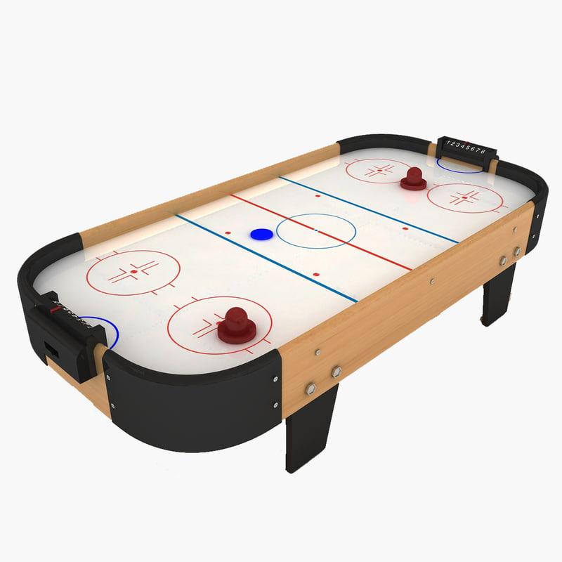 3d air hockey table model